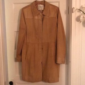 Andrew Mark Leather Trench Coat